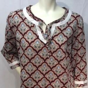 Tommy Hilfiger Cotton Tunic Pullover Blouse Size L